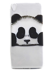 For Sony Xperia E5 XA Case Cover Panda Pattern High Permeability Painting TPU Material Phone Case