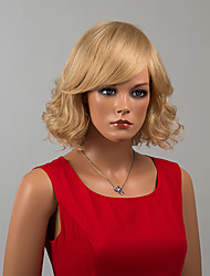 Elegant Mid-Length Capless Wigs Curly Human Hair