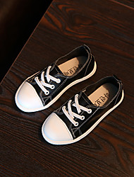 Boy's Sneakers Others Leather Casual Black White