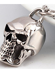 Men's Pendant Necklaces Jewelry Skull / Skeleton Titanium Steel Fashion Personalized Punk Costume Jewelry Jewelry For Wedding