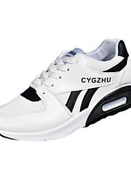 Damen-Sportschuhe-Lässig-PU-Flacher Absatz-Komfort-Schwarz / Weiß