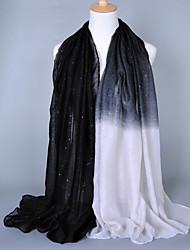 Women's Fashion Voile Heart Contrast color Cotton Vintage Scarf Pink/Red/Black/Blue/Brown/Navy Blue/Camel(180*90CM)