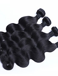 Mongolian Virgin Hair Weaves 4pieces/package  Body Wave Natural Color Hair Extension
