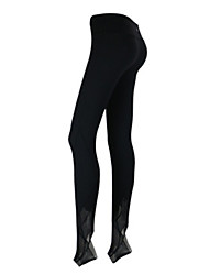 Yoga Pants Tights Breathable / Lightweight Materials / Comfortable Natural High Elasticity Sports Wear Gray / Black Women's SportsYoga /