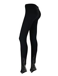 Yoga-Hose Strumpfhosen/Lange Radhose Atmungsaktiv / Leichtes Material / Komfortabel Normal Hochelastisch Sportbekleidung Grau / Schwarz