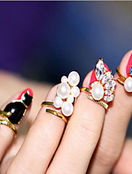 4Pcs Ring Cat Pearl Nail Nail Joints