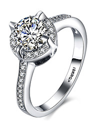 Top Fashion Trendy Platinum Gold Plated Ring Women AAA Grade Zirocn/Crystal Rings Jewelry Ring For Wedding R809