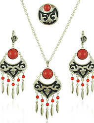 Jewelry 1 Necklace 1 Pair of Earrings Rings Halloween Party Daily Casual 1set Women As Per Picture Wedding Gifts