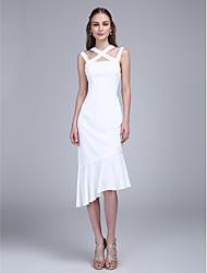 2017 ts couture® prom Cocktailpartykleid Mantel / Spalte Riemen asymmetrische Chiffon mit