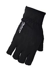 Спортивные перчатки Велоспорт Без пальцев ВсеАнти-скольжение / Съемный язычок молнии / Стреч / Влагопроницаемость / Меньше трения /