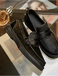 Women's Loafers & Slip-Ons Comfort Cowhide Casual Black
