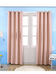 One Panel Curtain Modern , Solid Living Room Poly / Cotton Blend Material Blackout Curtains Drapes Home Decoration For Window