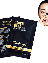 10PCS DOBERYL Mineral Mud Nose Blackhead Acne Strip Remover Mask Peeling Off Black Head Suction Mask Pore Acne Cleanser