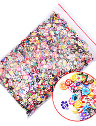 Фрукты / Цветы - Стразы для ногтей - Пальцы рук / Пальцы ног / Прочее - 0.5cm-0.7cm - 1pack  (10000pcs) - Прочее
