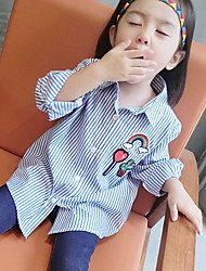 Girl Casual/Daily Striped Shirt,Cotton Spring / Fall