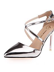 Damen-High Heels-Lässig-PU-Stöckelabsatz-Komfort-Silber / Grau / Gold