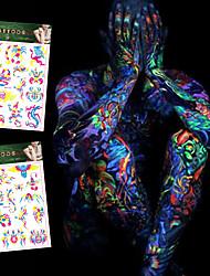 4 Tatuagens AdesivasSéries de Jóias / Séries Animal / Série Florida / Séries Totem / Outros / Série dos desenhos animados / Série