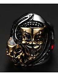 Men's Ring Jewelry Punk European Costume Jewelry Titanium Steel Skull / Skeleton Jewelry For Wedding Party Daily Casual Sports