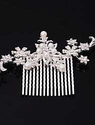 Women's Rhinestone /Imitation Pearl Headpiece-Wedding Flower Combs Hair Jewery