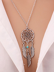 New Fine Bohemia ethnic Jewelry Long sweater chain Dream catcher Dreamcatcher Pendant necklace For Women