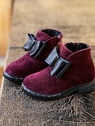 Girl's Boots Winter Others / Comfort Fur Outdoor / Casual Low Heel Bowknot / Zipper Black / Yellow / Burgundy Others