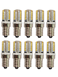 10 PCS Verkabelt Others E14 64 led  SMD 3014 AC220V 650 lm Warm White Neutral White Glue Waterproof Lamp Other