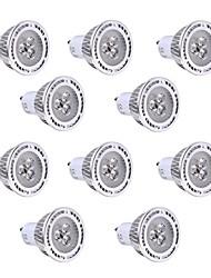 3W GU10 Spot LED 3 SMD 3030 250-300 lm Blanc Chaud / Blanc Froid Décorative V 10 pièces