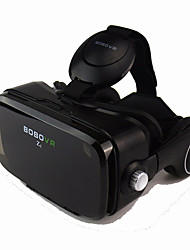 Black VR 3D Glasse Integrated Earphone Virtual Reality Headset BOBO VR for 4.7-6.2 Inch Smartphone