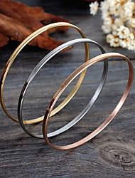 Women's Bangles Stainless Steel Gold Plated Friendship Fashion Bohemian Golden Jewelry 1set