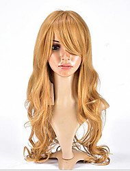 Synthetic Wigs for Women Long Curly Synthetic Wigs Blonde  Hair Fashion Synthetic Natural Wave Hair Wig Heat Resistant