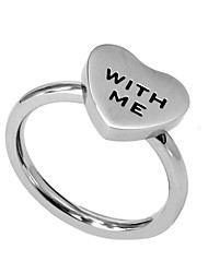 Fashion Lover's Heart Shape 316L Stainless Steel Ring