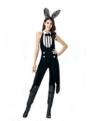 Cosplay Costumes Bunny Girls Movie Cosplay Black Solid Leotard/Onesie / Headwear Halloween / Carnival Polyester