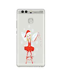 Para Diseños Funda Cubierta Trasera Funda Navidad Suave TPU para HuaweiHuawei P9 / Huawei P9 Lite / Huawei P9 Plus / Huawei P8 / Huawei