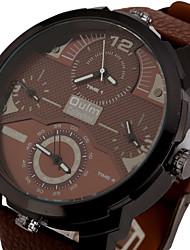 Masculino Relógio Esportivo / Relógio Militar / Relógio Elegante / Relógio de Moda / Relógio de Pulso QuartzTrês Fusos Horários / Punk /