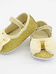 Kids' Girls' Baby Flats Comfort Glitter Fall Casual Comfort Sparkling Glitter Flat Heel Gold Silver Flat