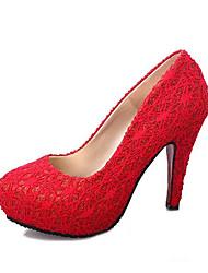 Homme-Décontracté-Noir / Rouge / Amande-Gros Talon-Confort-Chaussures à Talons-Polyuréthane
