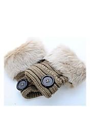 (Note - pâte de haricot) ms imitation poils de lapin en hiver pour garder des gants de laine fingerless chaud