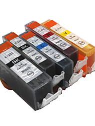 bloom®520bk + 521BK-521c / m / cartouche d'encre compatible pour Canon iP3600 y / iP4600 / iP4700 / MX860 encre plein / MX870 (5 couleurs
