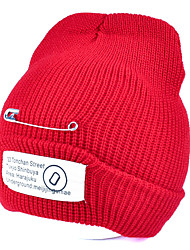 College Wind Winter Thickening Patch Letters Printing  Warm Knitted Wool Cap