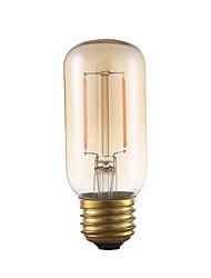 2W E26 Ampoules à Filament LED T 2 COB 160 lm Ambre Gradable / Décorative AC 110-130 V 1 pièce