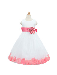 Girl's  Fashion Leisure Sleeveless Flowers Formal Dress