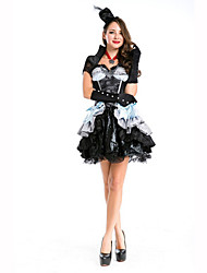 Queen Fairytale Festival/Holiday Halloween Costumes White Black Solid Dress Gloves HeadwearHalloween Christmas Carnival Children's Day