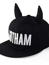 GOTHAM ear small devil horns flat along the hip-hop cap baseball cap Breathable / Comfortable  BaseballSports