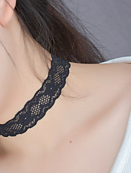 Women's Choker Necklaces Tattoo Choker Jewelry Lace Jewelry Tattoo Style Fashion Black JewelryWedding Party Halloween Birthday Daily