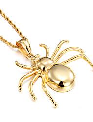 kalen® ювелирные изделия высокого Qaulity 316 18k из нержавеющей стали Италия золота гальваническим огромный паук кулон тяжелых животных