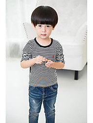 Boy Casual/Daily Solid Tee,Cotton Fall Long Sleeve