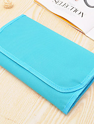 Makeup Storage Cosmetic Bag / Makeup Storage Nylon Solid 26*15*2 Blue