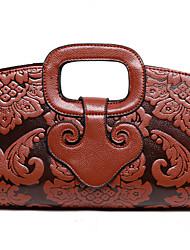 Damen Taschen Ganzjährig Kuhfell Abendtasche mit für Hochzeit Veranstaltung / Fest Schwarz Braun Rot Grün Blau