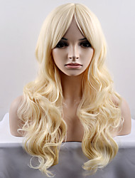 European and American Women In The Fashionable New Year In The Sub - Light Yellow Wave High - Temperature Wire Wig