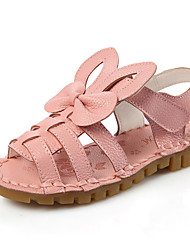Girl's Sandals Comfort Leather Casual Pink / White